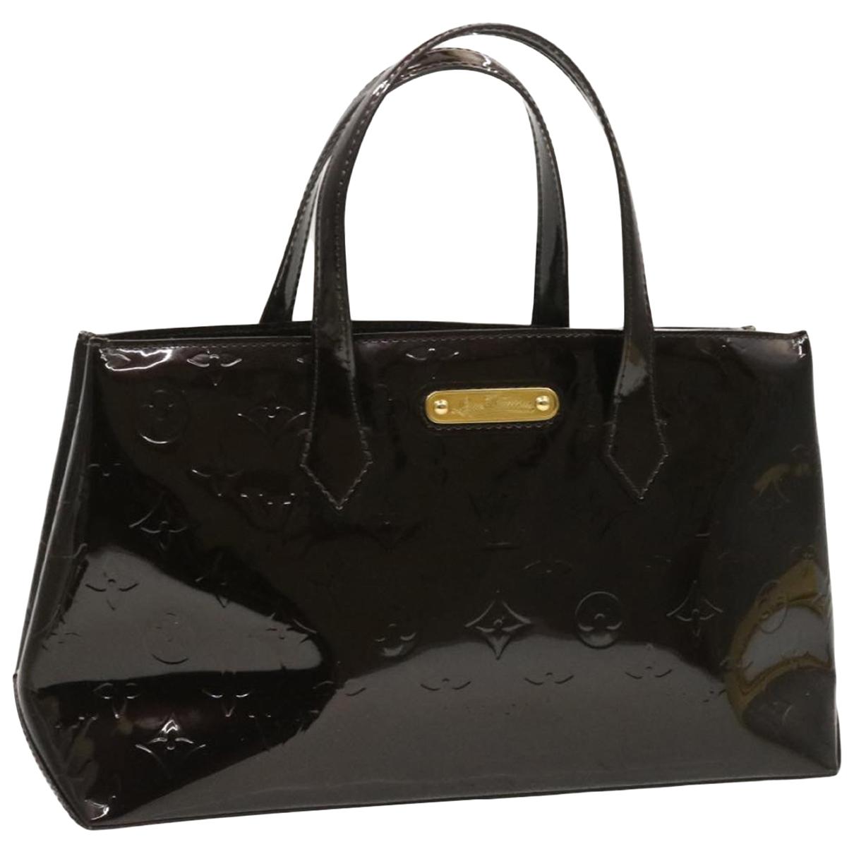 Louis Vuitton Wilshire Purple Patent leather handbag for Women N