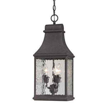 47074/3 Forged Jefferson Collection 3 Light outdoor Pendant in