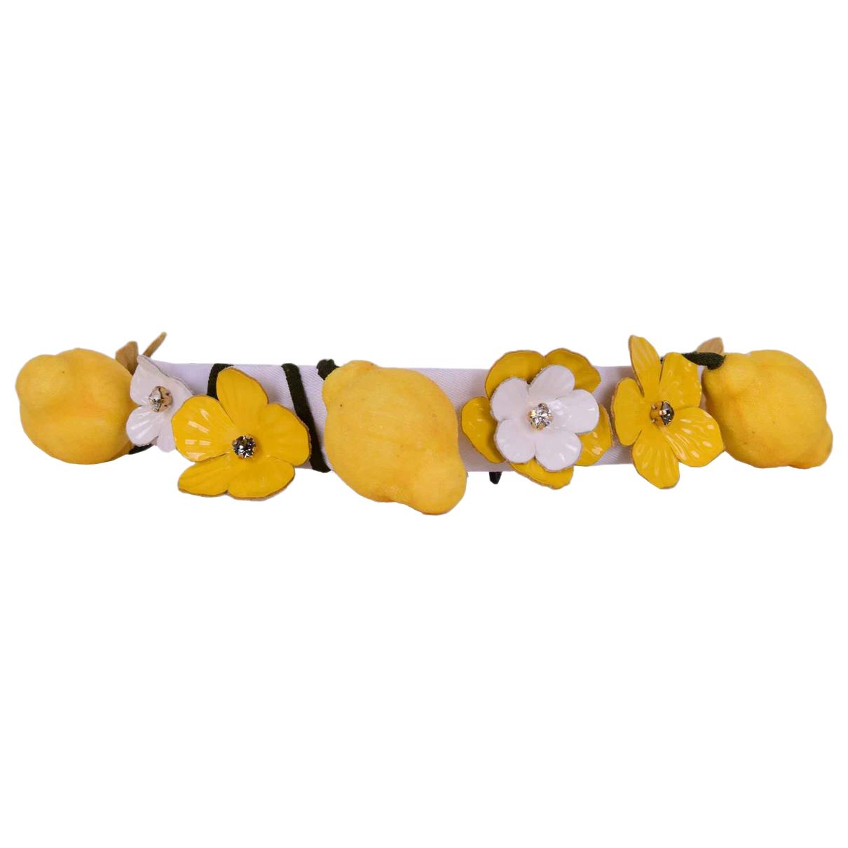 Dolce & Gabbana \N Haarschmuck in  Gelb Kunststoff