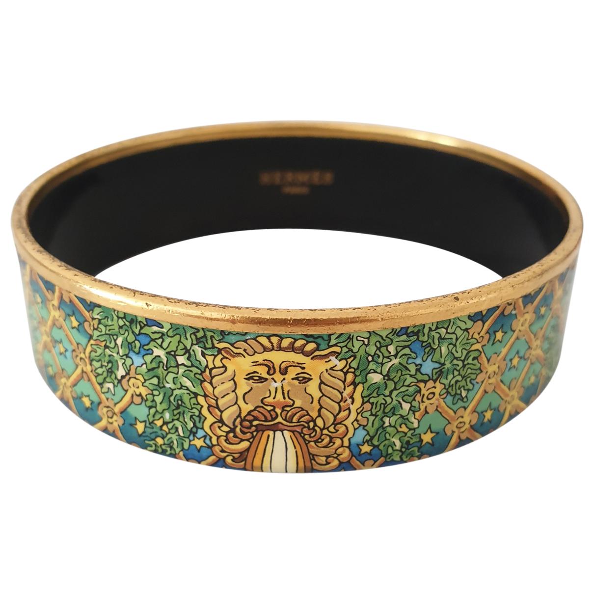Hermes - Bracelet Bracelet Email pour femme en metal - dore