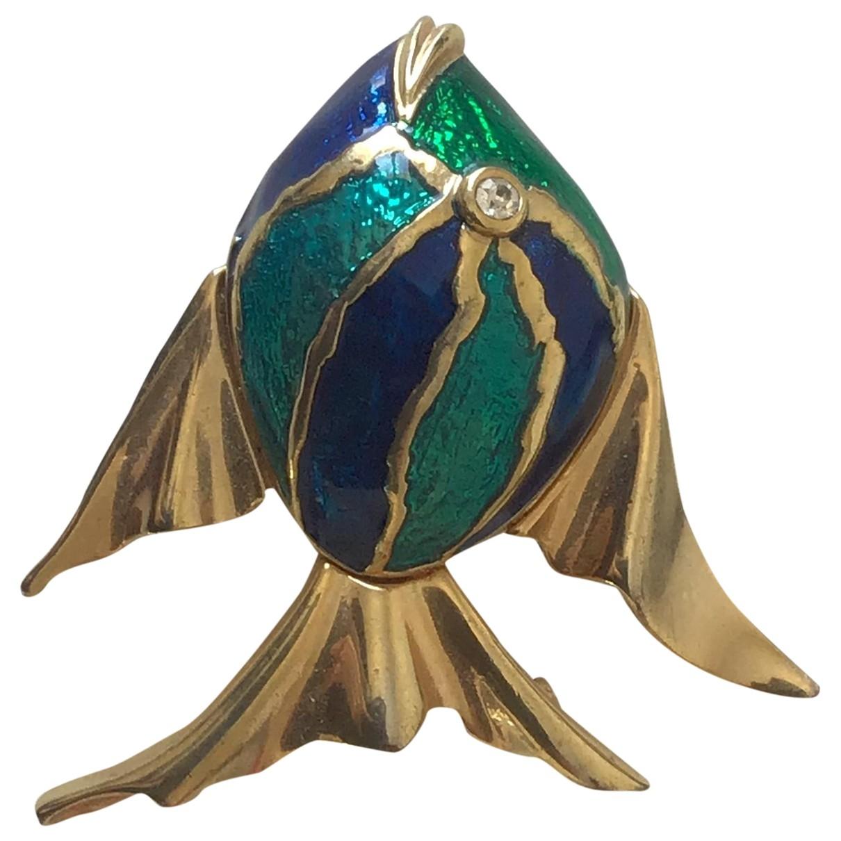 Swarovski \N Blue Metal Pins & brooches for Women \N