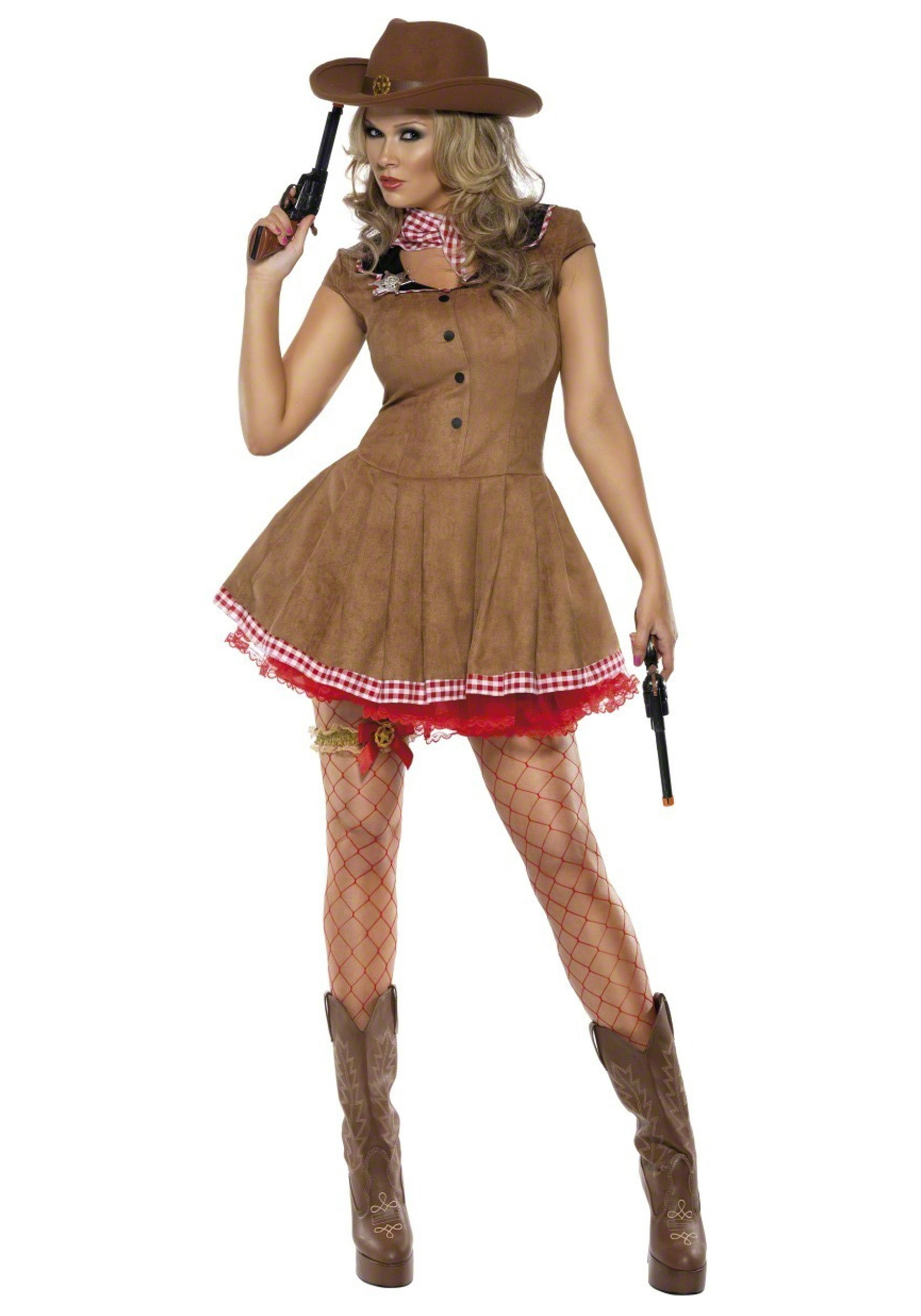 Wild West Cowgirl Costume For Adults