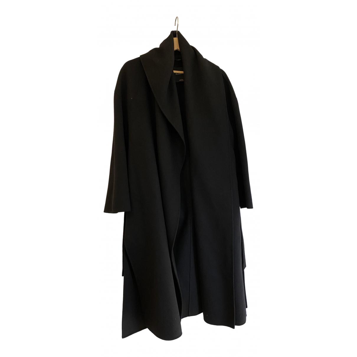Massimo Dutti N Black Wool coat for Women 36 FR