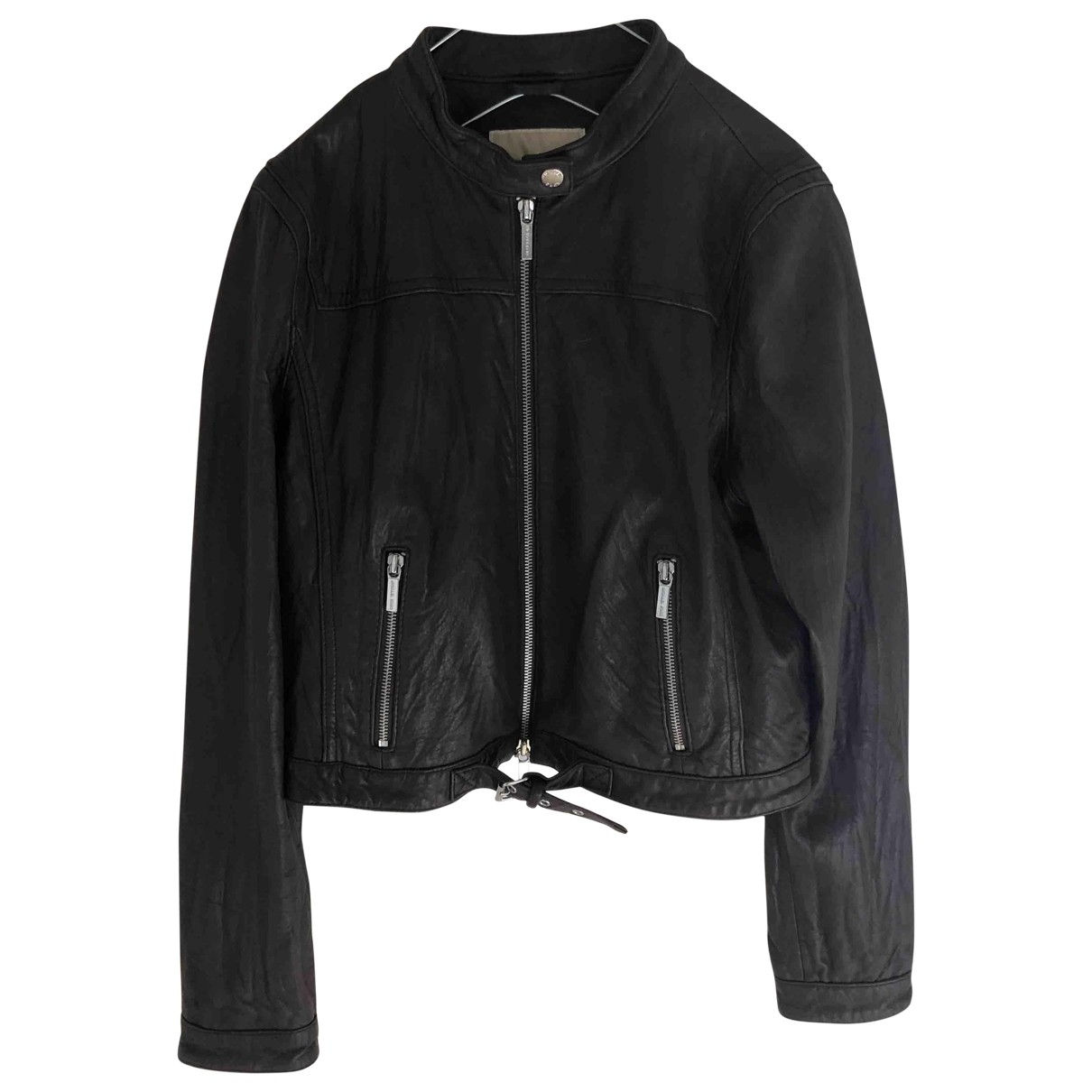 Michael Kors \N Brown Leather jacket for Women L International
