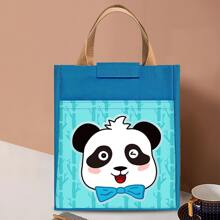 Cartoon Panda Print Insulation Lunch Bag