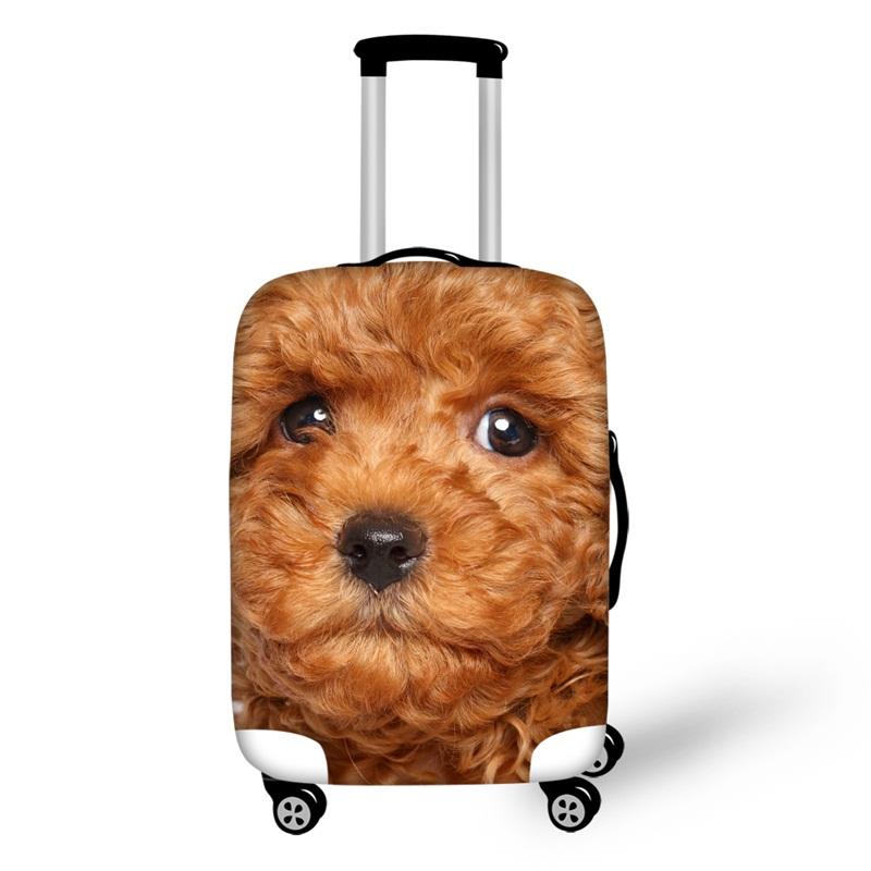 3D Pattern Teddy Dog Waterproof Suitcase Protector 19 20 21