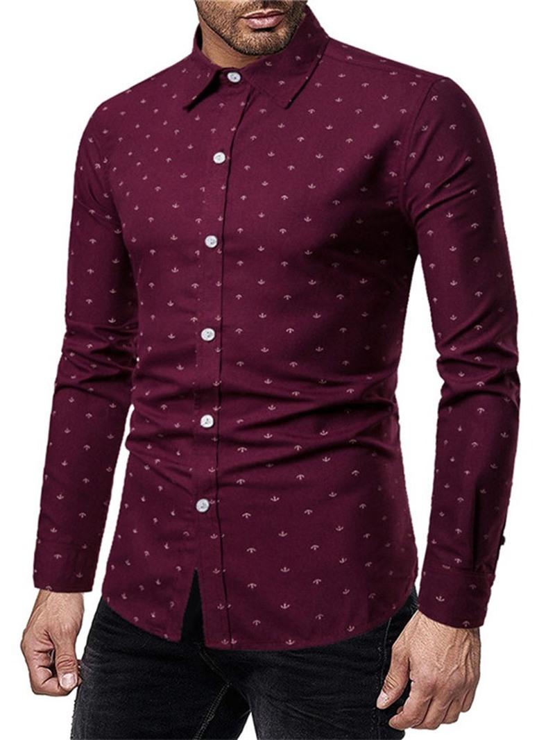 Ericdress Casual Lapel Print Spring Shirt