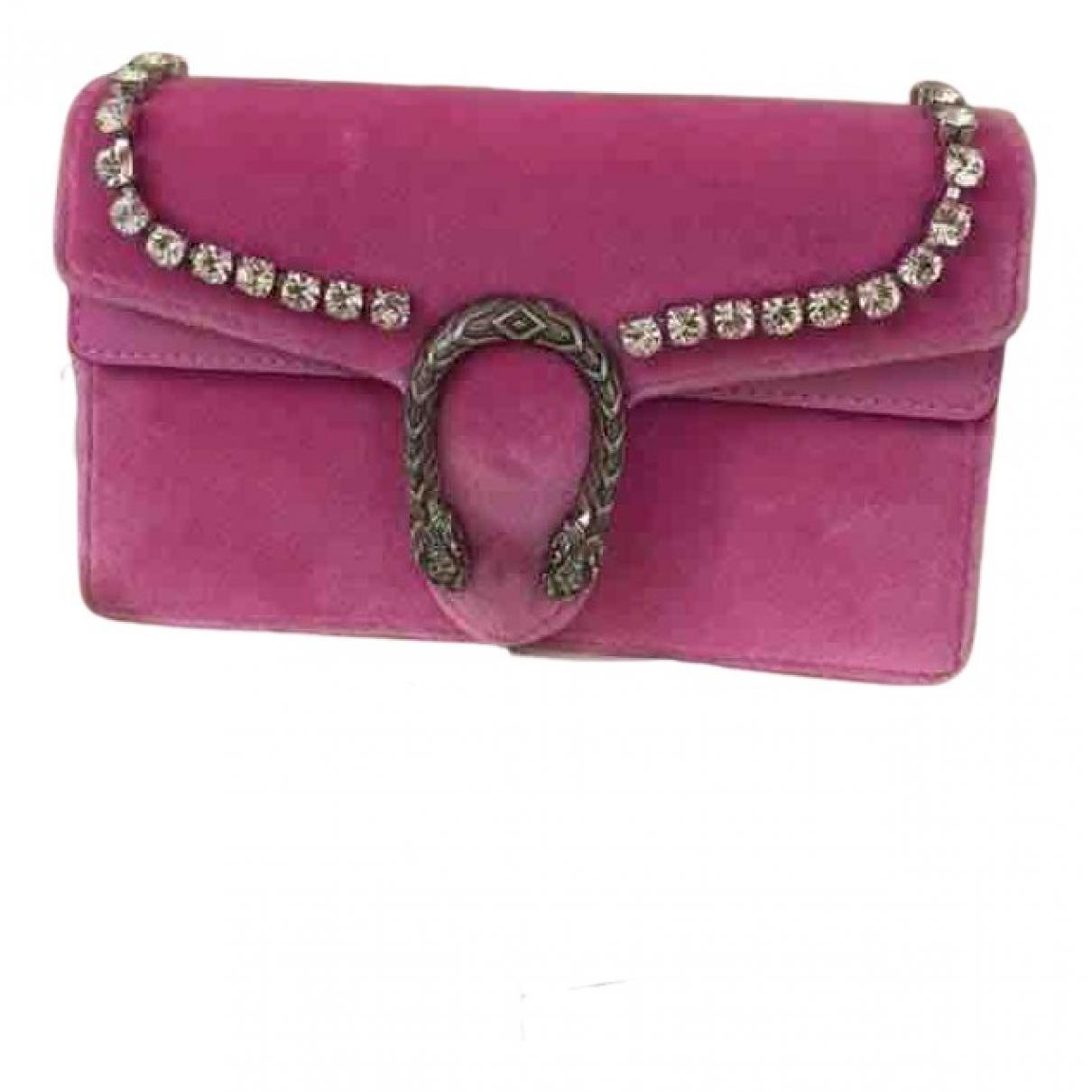 Gucci Dionysus Handtasche in  Rosa Samt