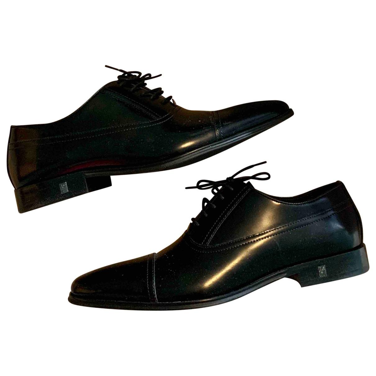 Versace \N Schnuerschuhe in  Schwarz Leder