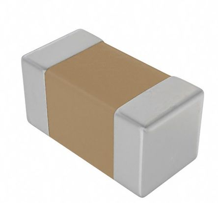 KEMET 0603 (1608M) 10nF Multilayer Ceramic Capacitor MLCC 16V dc ±10% SMD C0603C103K4RACTU (4000)