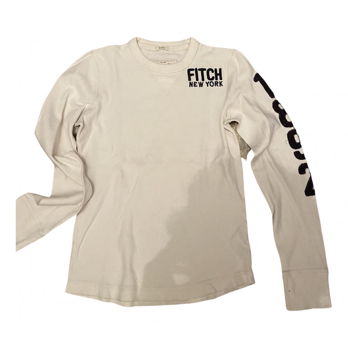 Abercrombie & Fitch \N White Cotton Knitwear & Sweatshirts for Men S International
