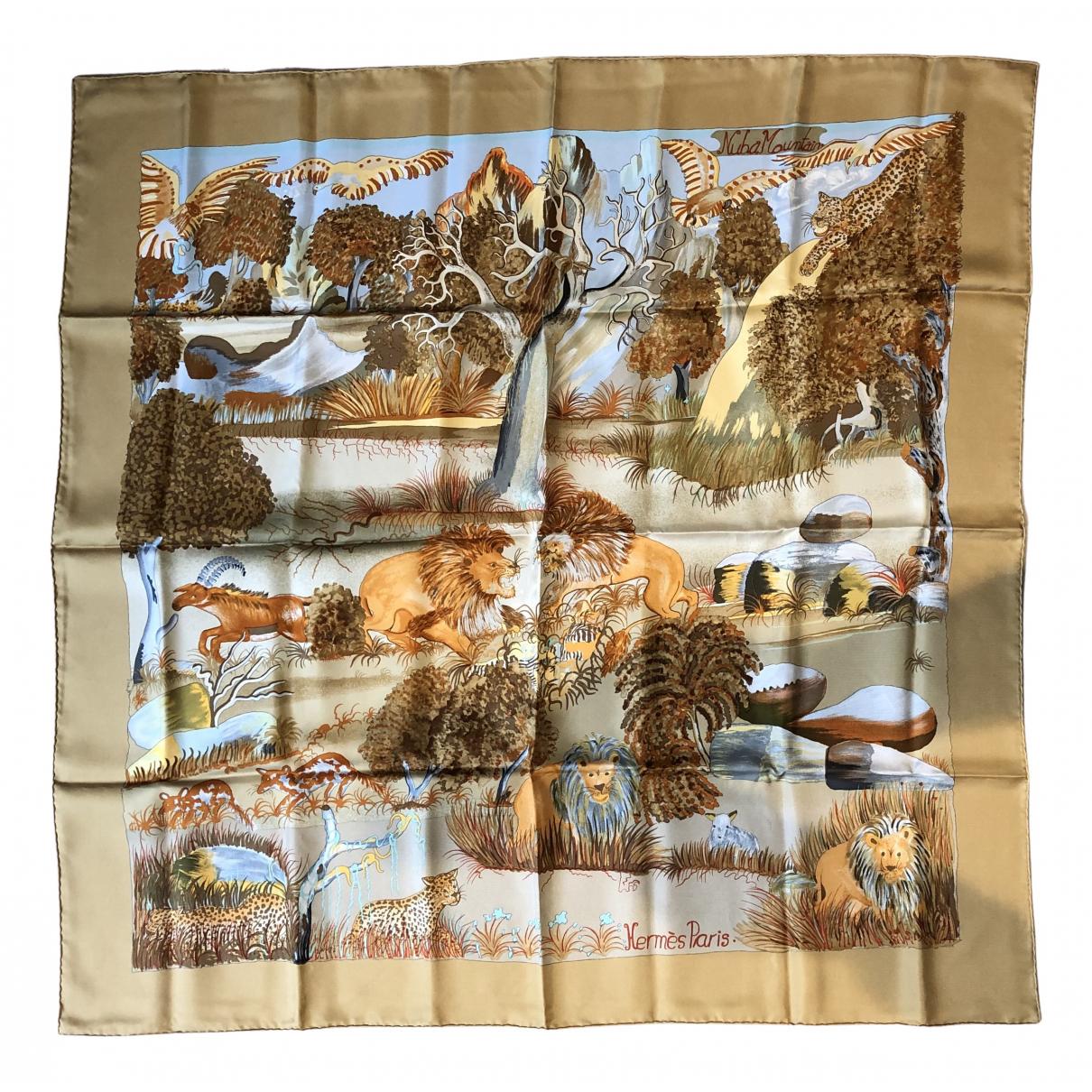 Hermès Carré 90 Camel Silk Silk handkerchief for Women N