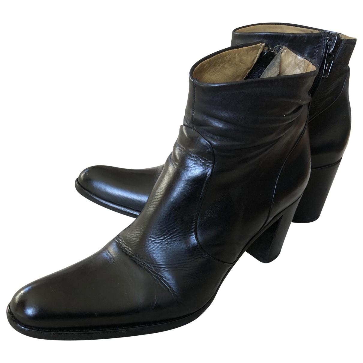 Free Lance - Boots Queenie pour femme en cuir - noir
