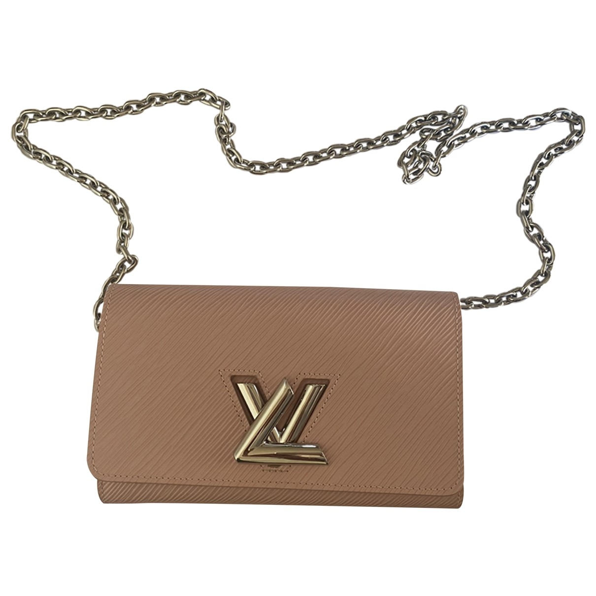 Louis Vuitton Twist Clutch in  Rosa Leder
