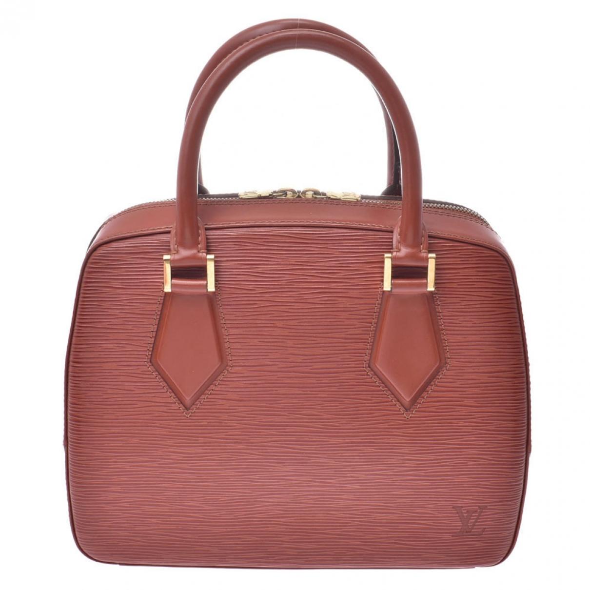 Louis Vuitton - Sac a main Sablon pour femme en cuir - marron