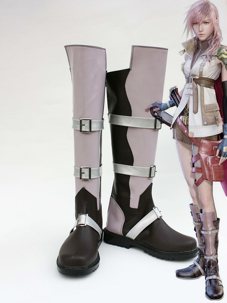 Milanoo Final Fantasy XIII Lightning Carnival Cosplay Shoes