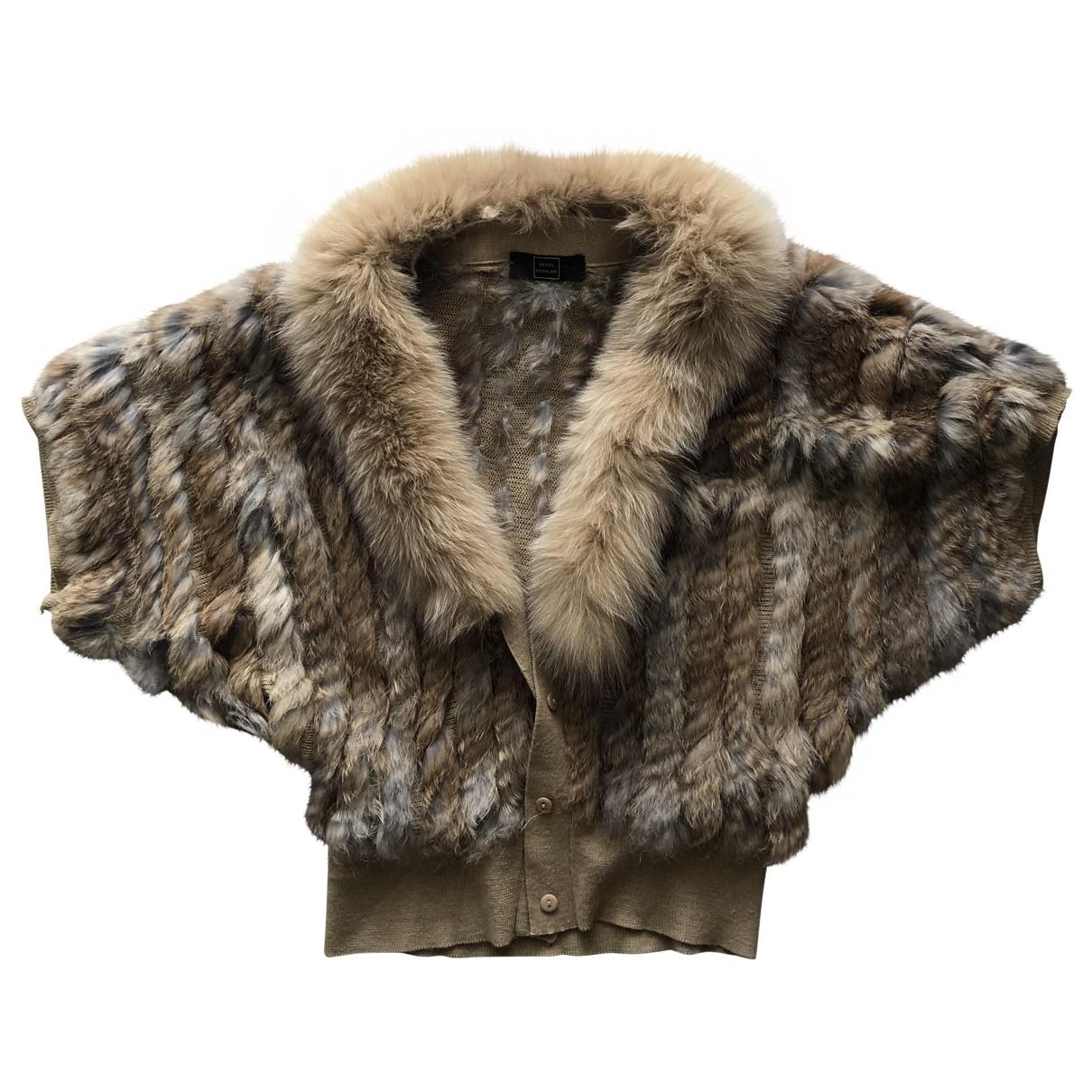 - Manteau Hippie Chic pour femme en lapin - beige