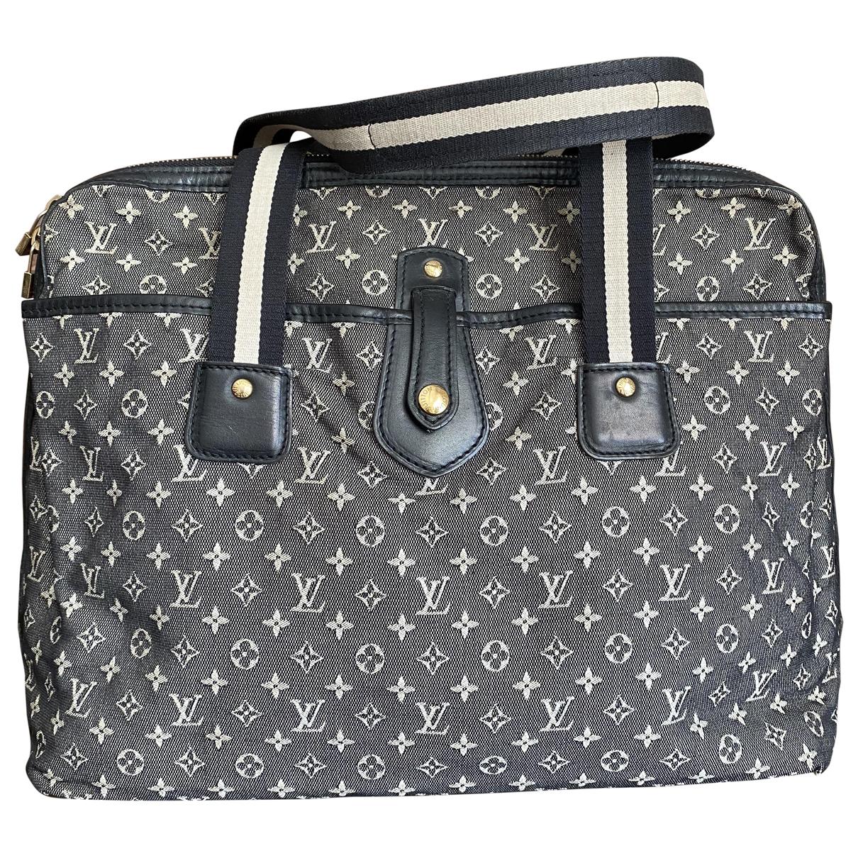 Louis Vuitton \N Handtasche in  Marine Leinen