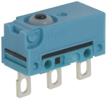 Panasonic SPDT-NO/NC Plunger Microswitch, 1 A @ 30 V dc