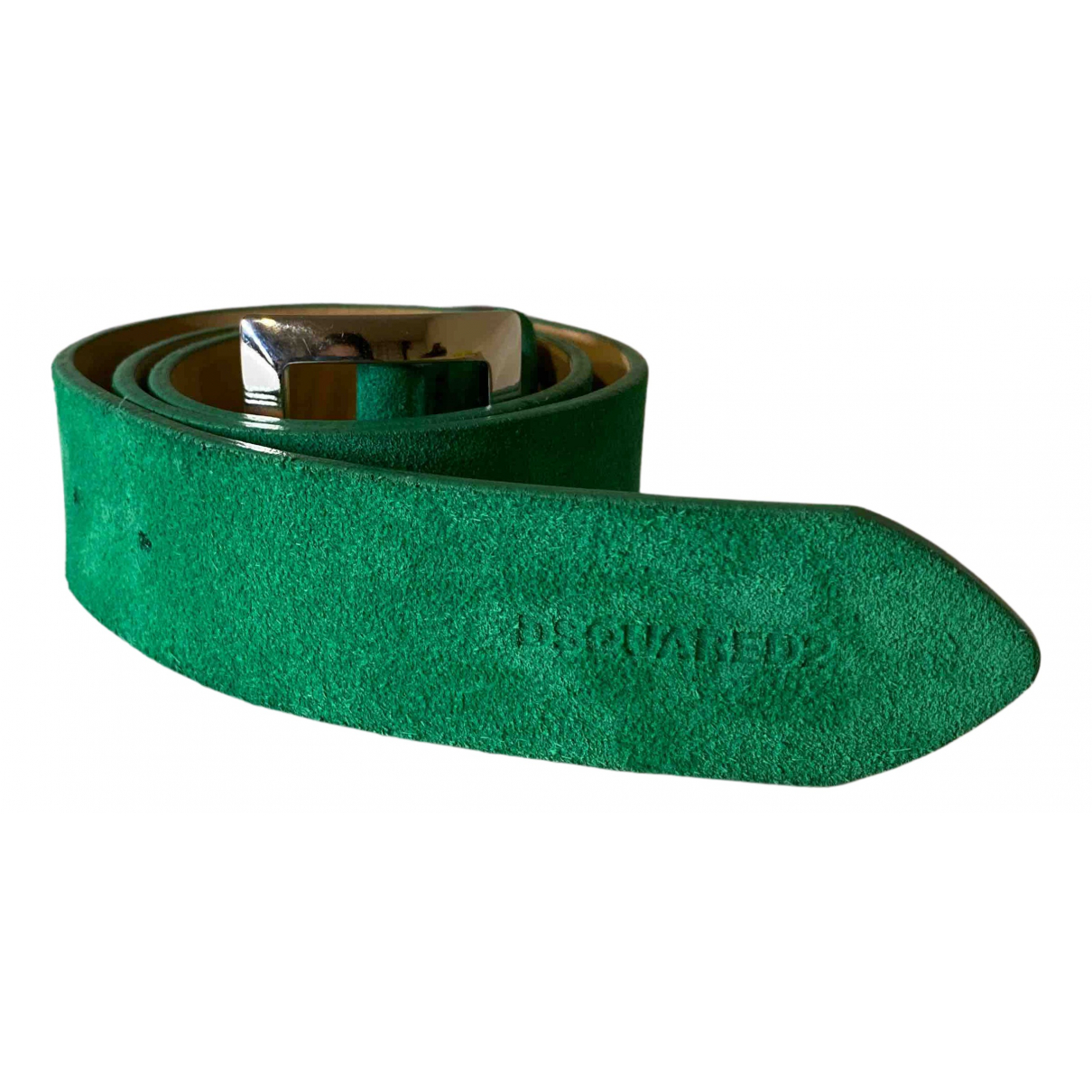 Dsquared2 N Green Suede belt for Women XS International