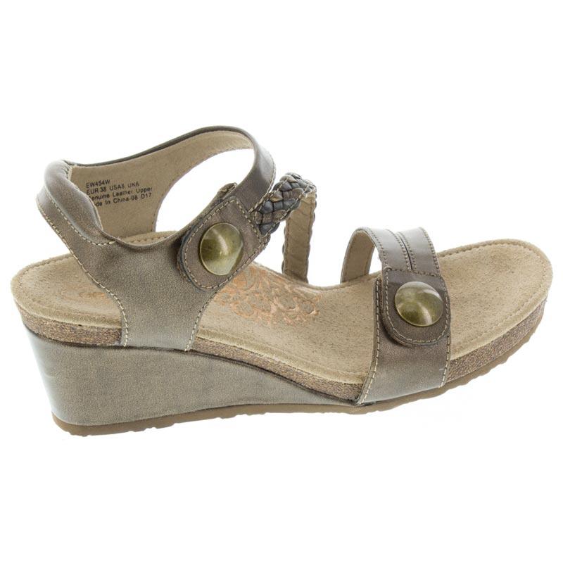 Aetrex Naya Bronze Leather High Heel 38