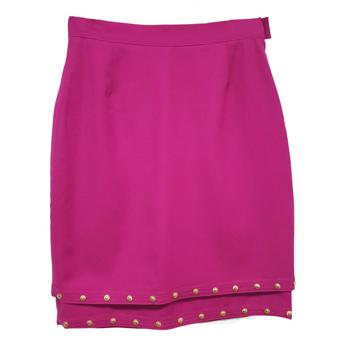 Versace - Jupe   pour femme en laine - rose