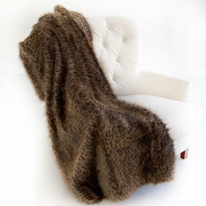 Tawny WildCat Collection PBSF1513-3660-TC 36W x 60L Plush Handmade Luxury Faux Fur