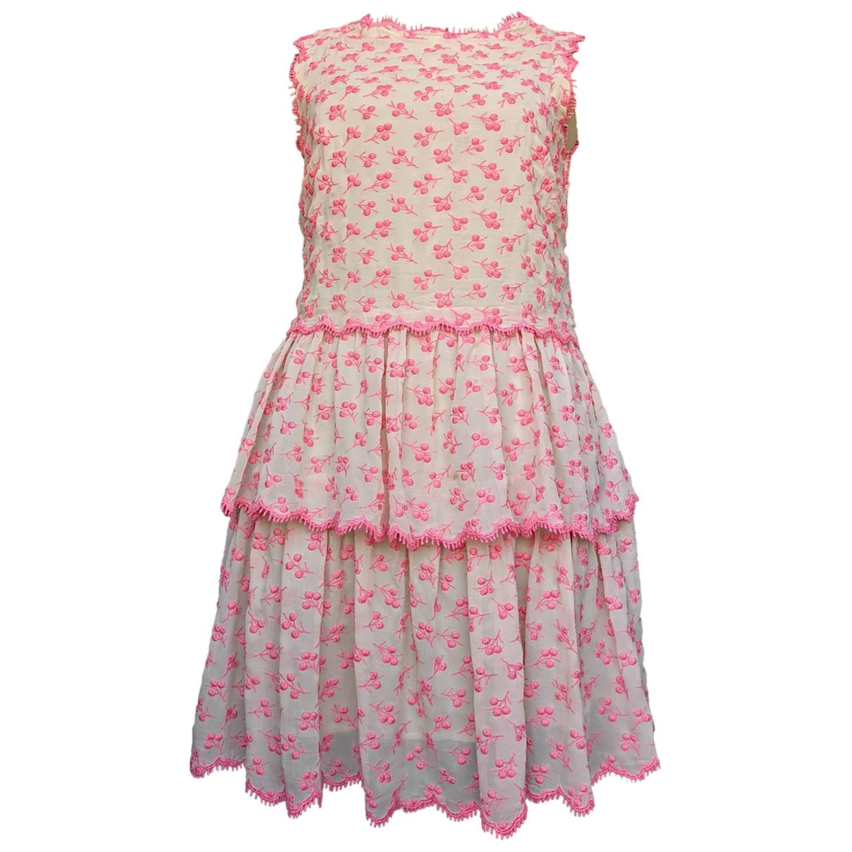 Red Valentino Garavani \N Beige Silk dress for Women 42 IT