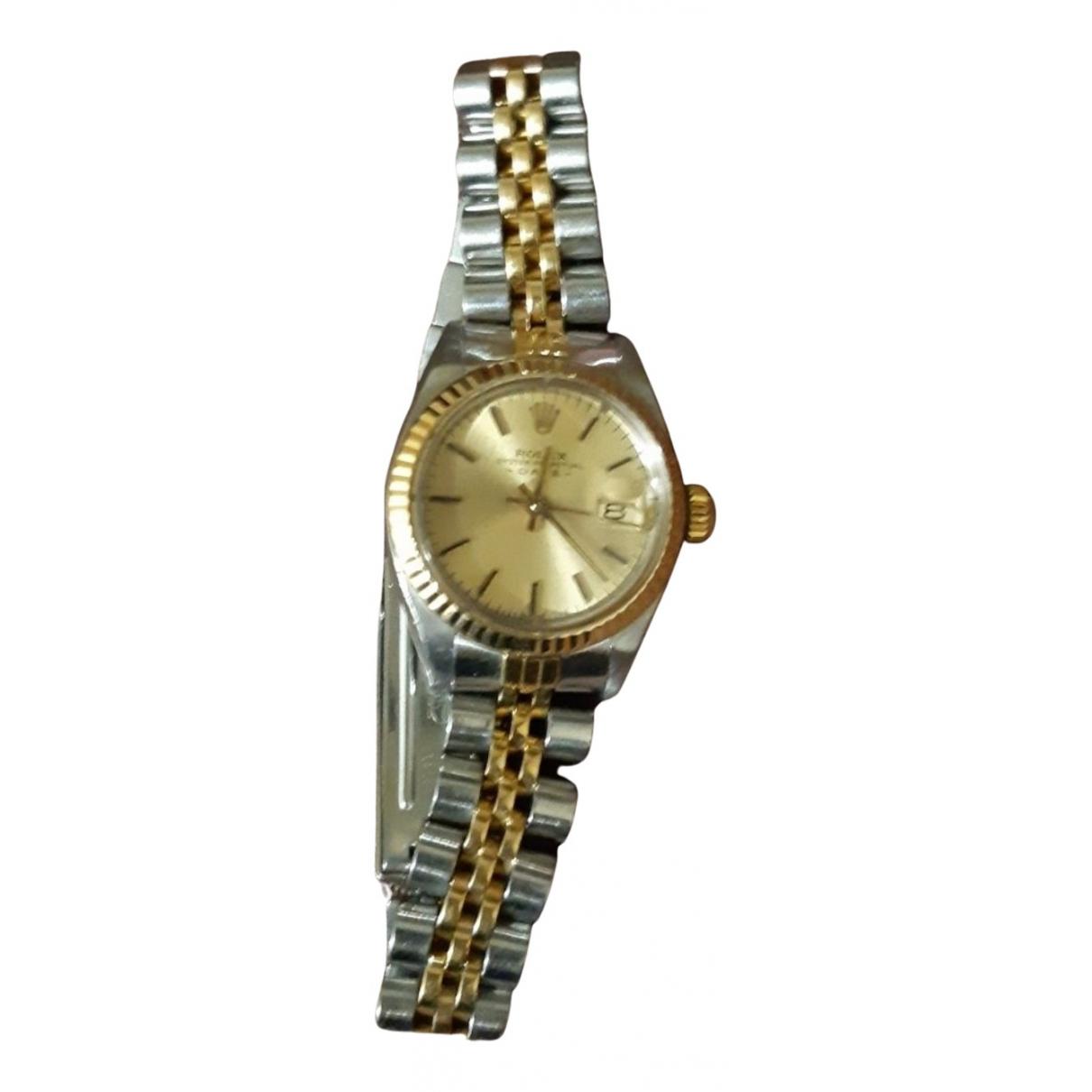 Rolex - Montre Lady Oyster Perpetual 26mm pour femme en or et acier - argente