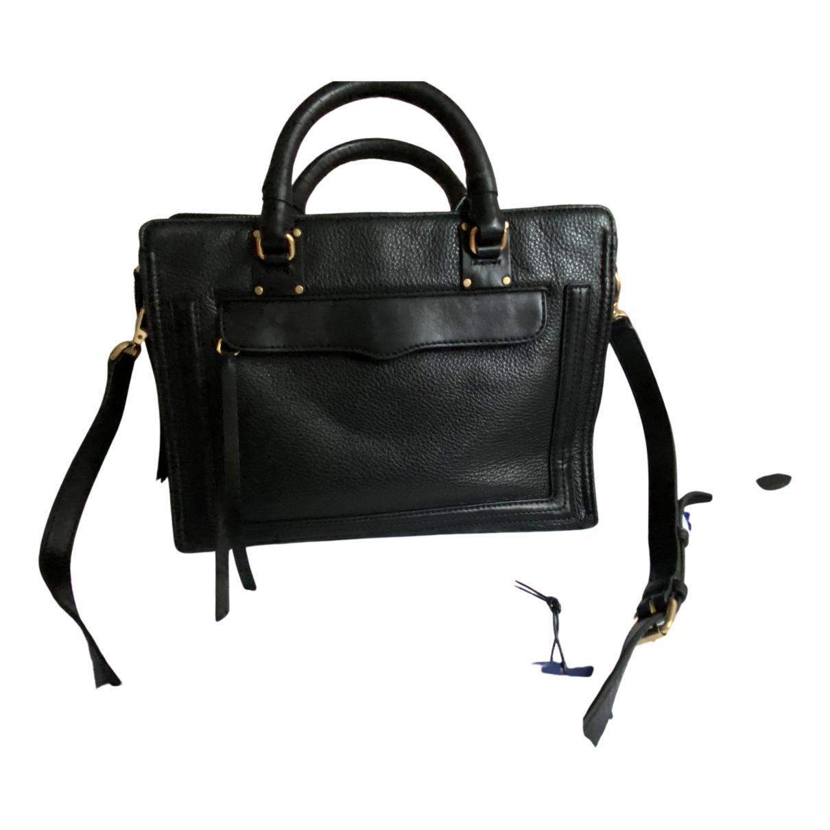 Rebecca Minkoff \N Handtasche in  Schwarz Leder