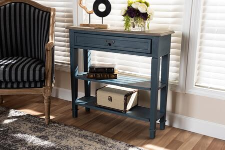 CHR10VM/MB-C-BLUESPRUCE Dauphine French Provincial Blue Spruce Fiinished Wood Accent Console