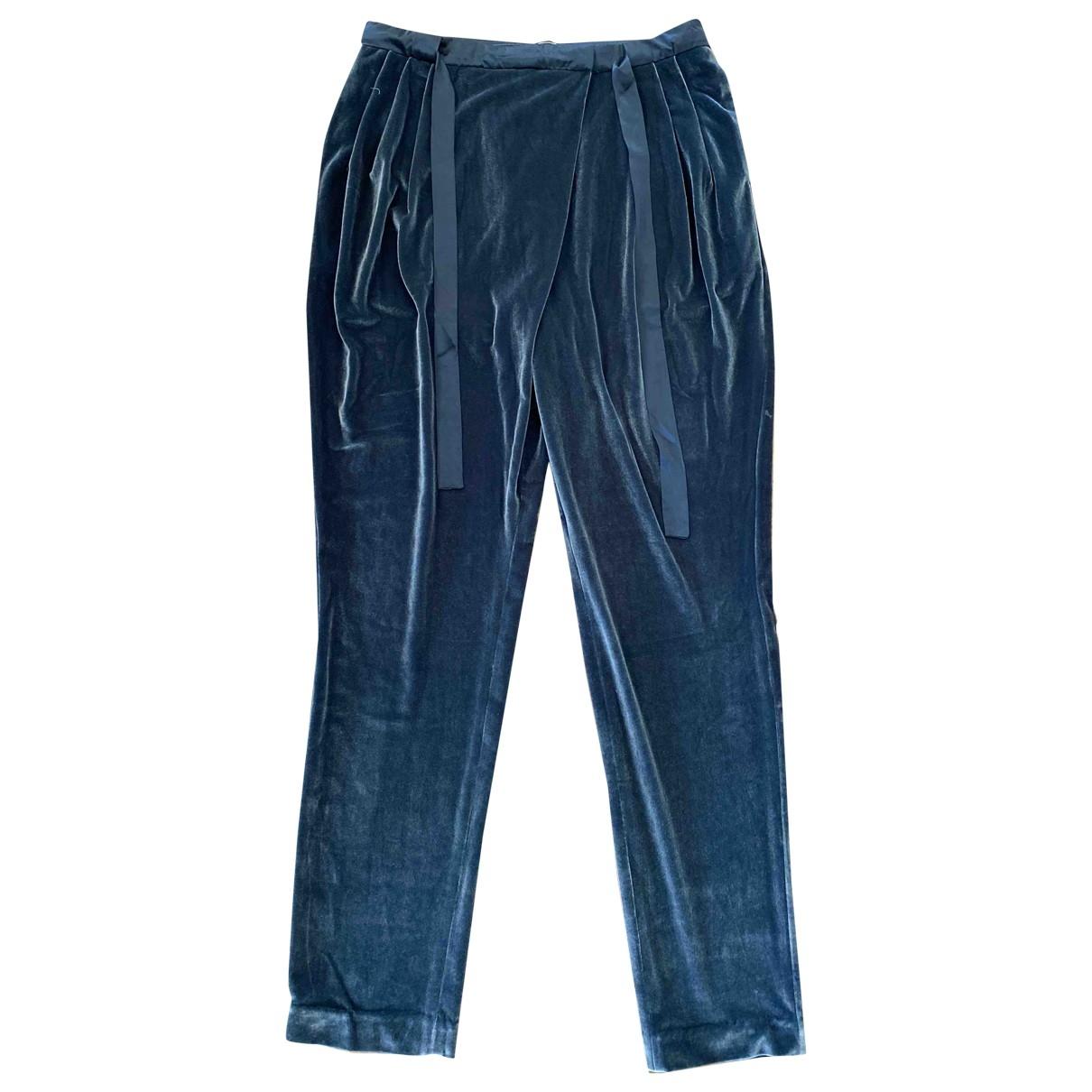 By Malene Birger \N Grey Velvet Trousers for Women 38 FR