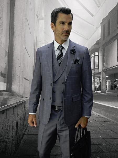 GREY Statement Plaid Suit