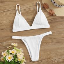 Triangle Tanga Bikini Swimsuit