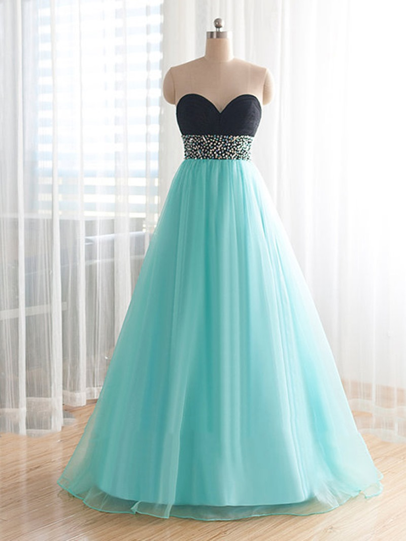 Ericdress Pretty Sweetheart Floor-Length Beading Plus Size Prom Dress