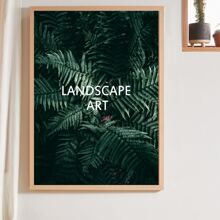 Cactus Print Wall Painting Without Frame