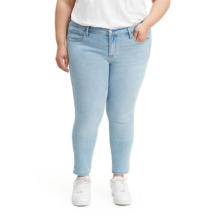 Levi's - Plus Womens Mid Rise 711 Skinny Fit Jean, 20w , Blue