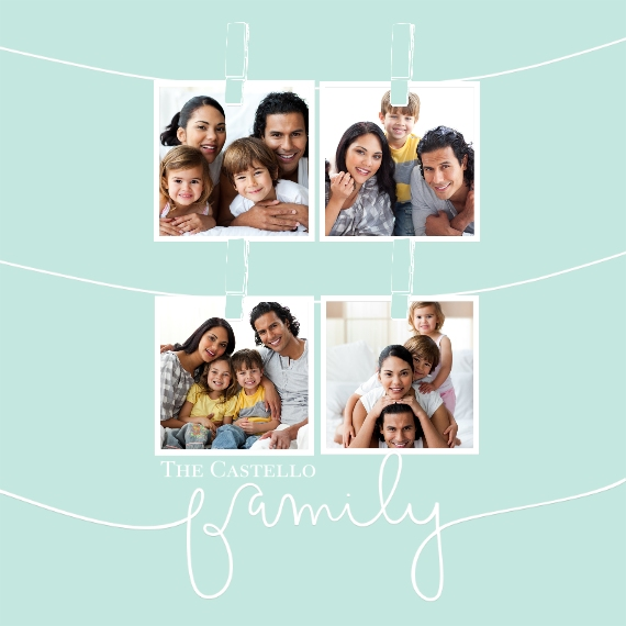 Family 12x12 Metal Panels, Home Décor -Clothespin Snapshots