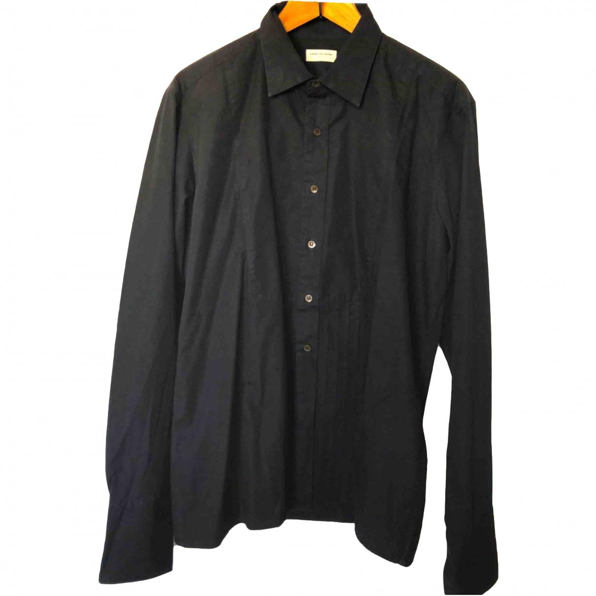 Dries Van Noten - Chemises   pour homme en coton - noir
