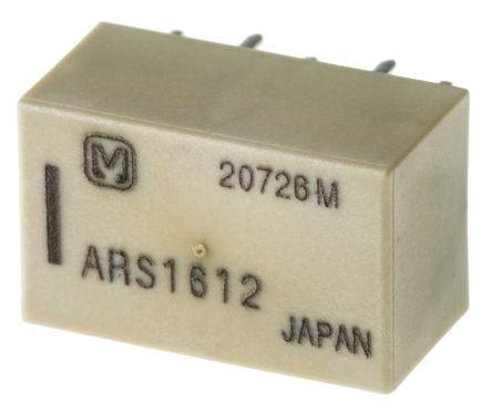 Panasonic PCB RF relay,SPDT,2xlatch,50ohm,12Vdc