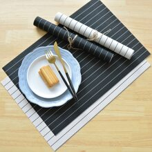1pc Striped Print Insulation Placemat