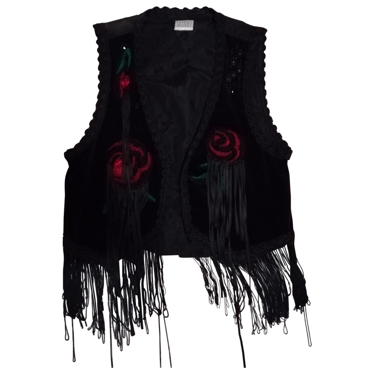 Maria Grazia Severi - Pull   pour femme en coton - noir