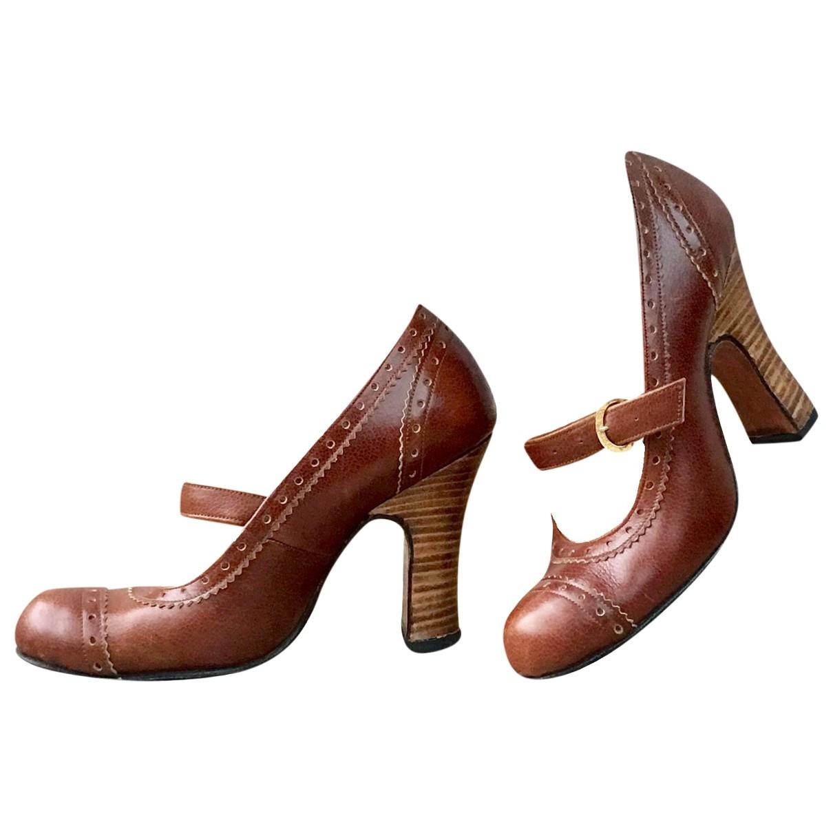 Vivienne Westwood - Escarpins   pour femme en cuir - marron