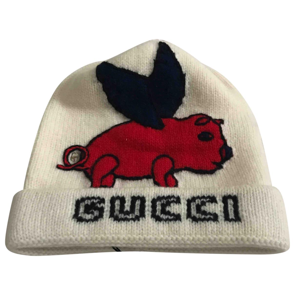 Gucci - Chapeau & Bonnets   pour homme en laine - blanc