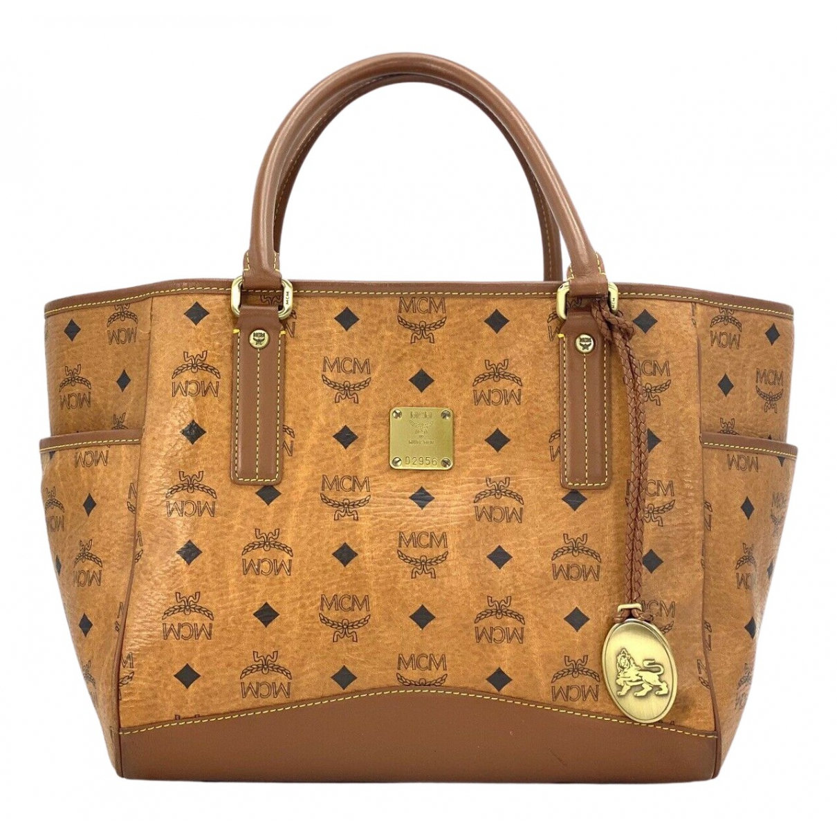 Mcm \N Camel Leather handbag for Women \N