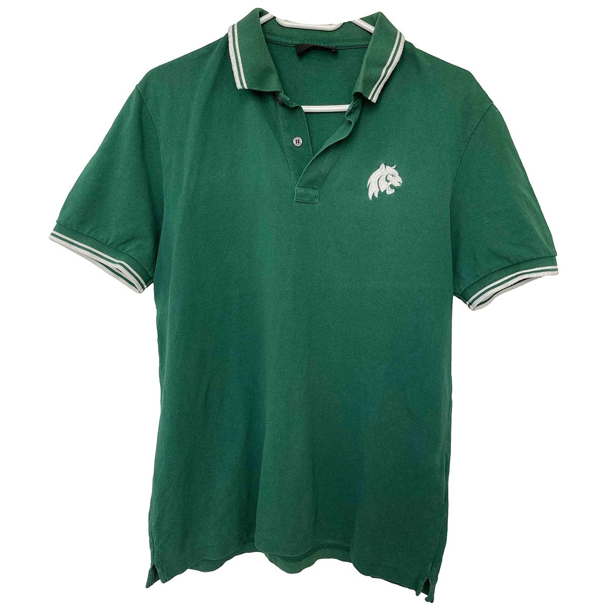 Prada - Polos   pour homme en coton - vert