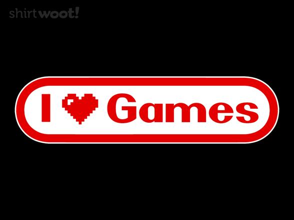 I Heart Games T Shirt