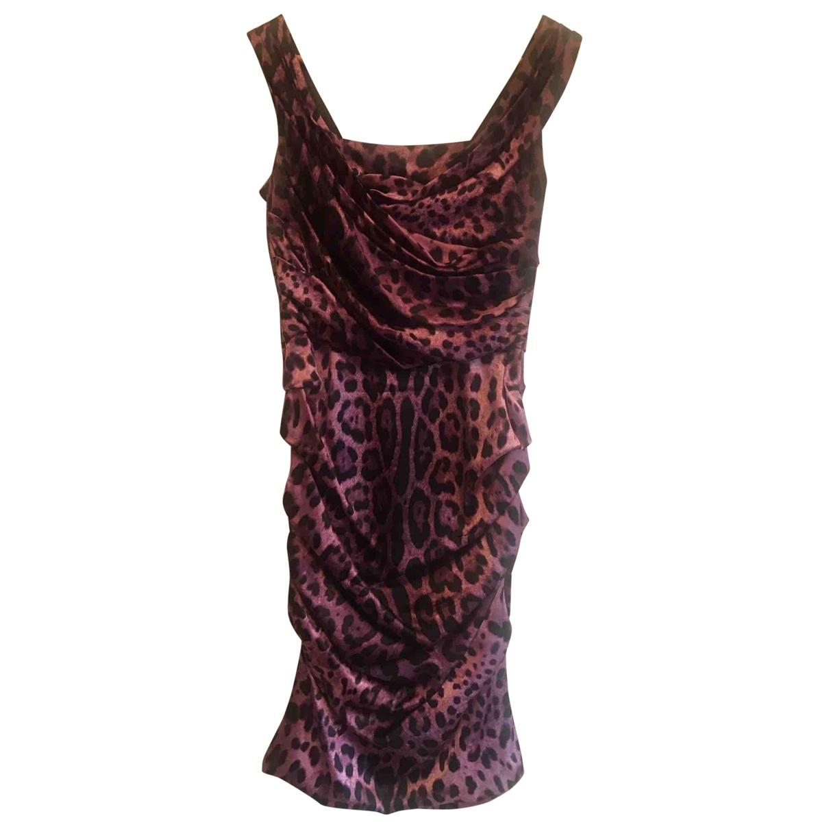 Dolce & Gabbana \N Kleid in  Lila Seide