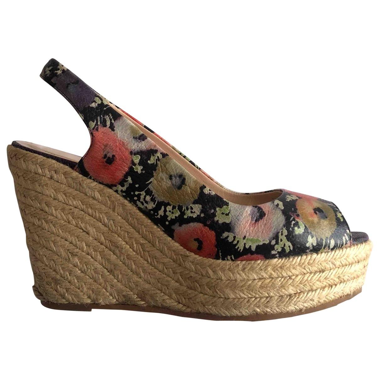 Bally - Sandales   pour femme en cuir - multicolore
