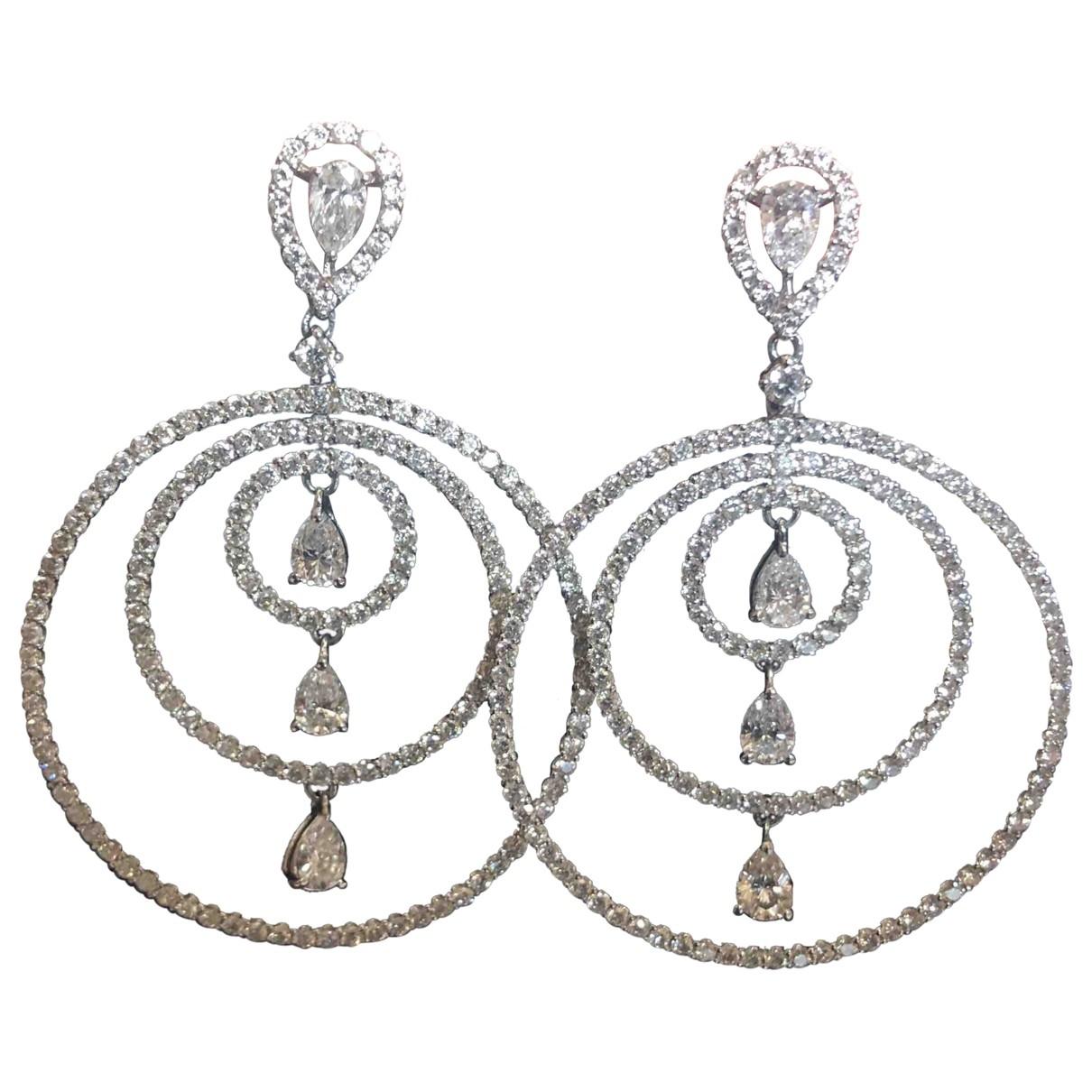 - Boucles doreilles   pour femme en or blanc - dore